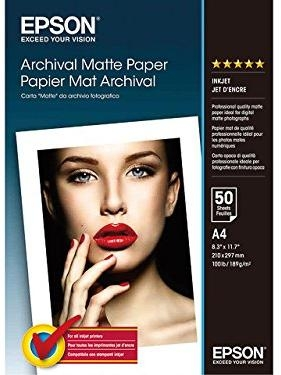 Фотобумага Epson Archival Matte Paper A4, 189gsm(50 sheets)